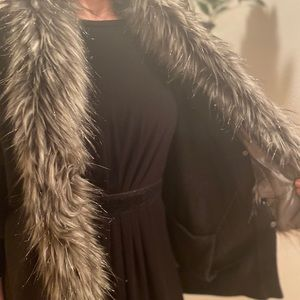 MICHAEL by MICHAEL KORS Faux Fur Collar Cardigan